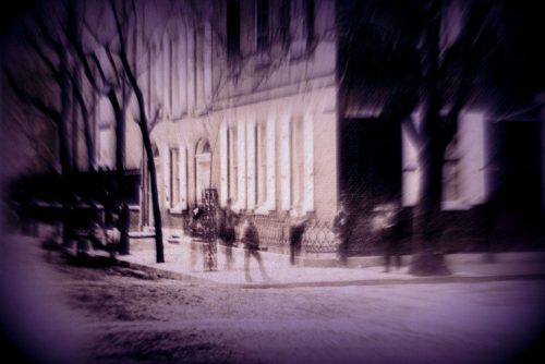 Ghosts on a street