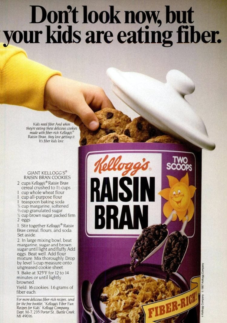 Giant Raisin Bran cookies recipe (1998)