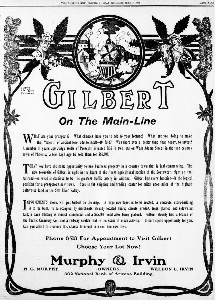 Gilbert, Arizona On the Main-Line(June 7, 1914)