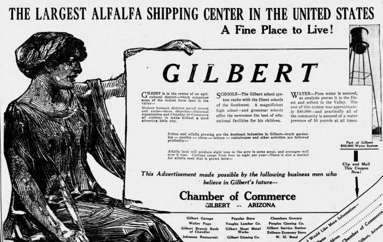 Gilbert Arizona in 1927 - Alfalfa capital (1)