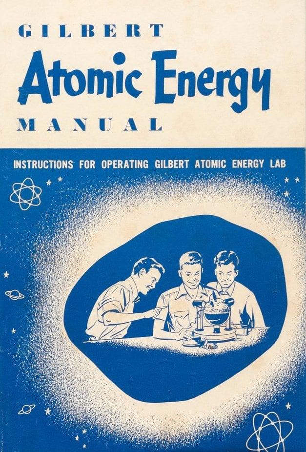 Gilbert Atomic Energy Lab manual - Vintage toy