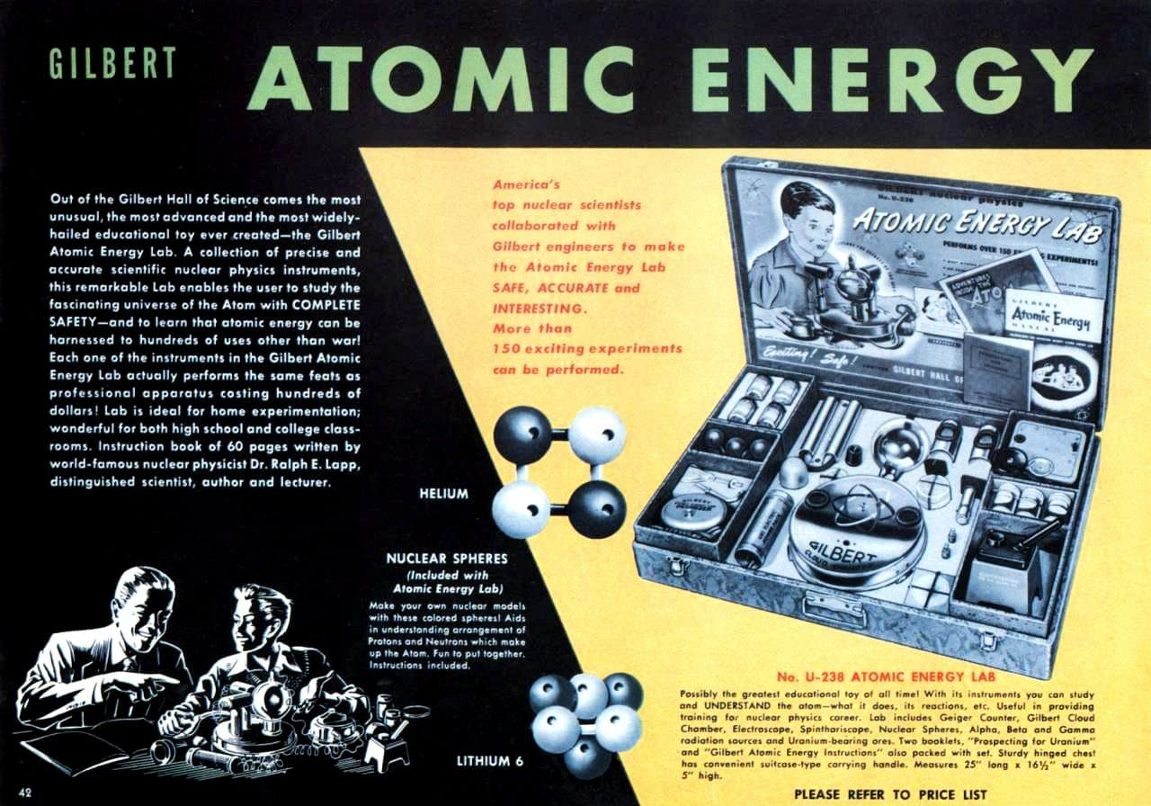 Gilbert U-238 Atomic Energy Lab toy from the fifties