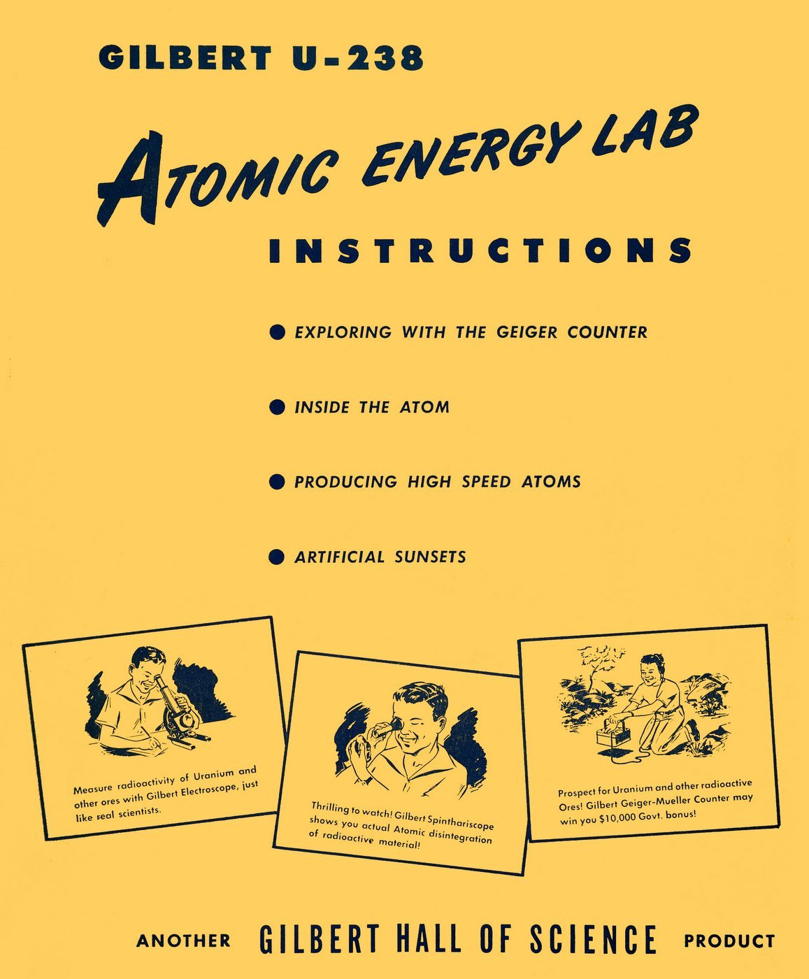 Gilbert nuclear physics atomic energy lab 1951 instructions