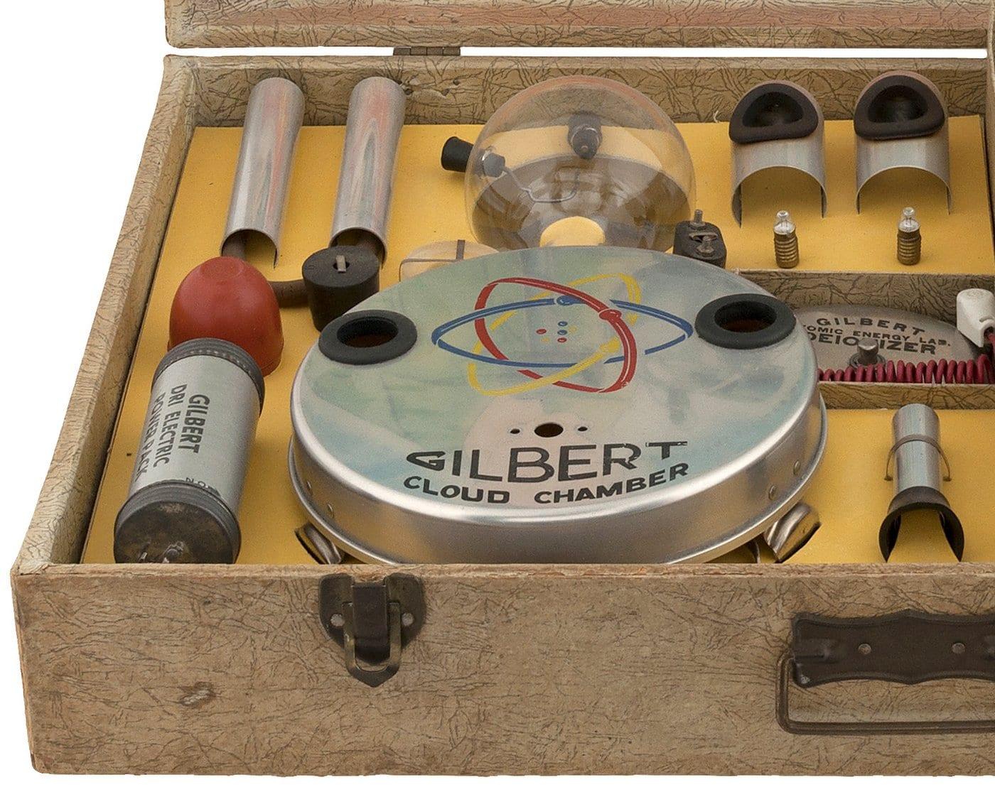 Gilbert nuclear physics atomic energy lab kit - Left side - 1950s