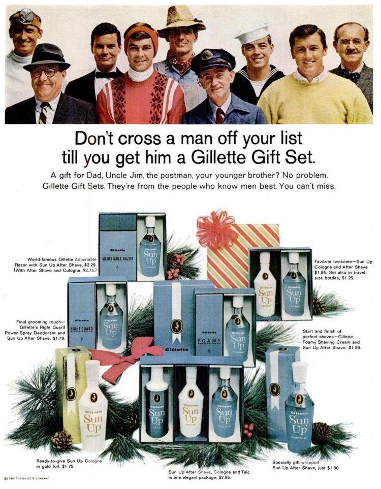 Gillette gift set 1965