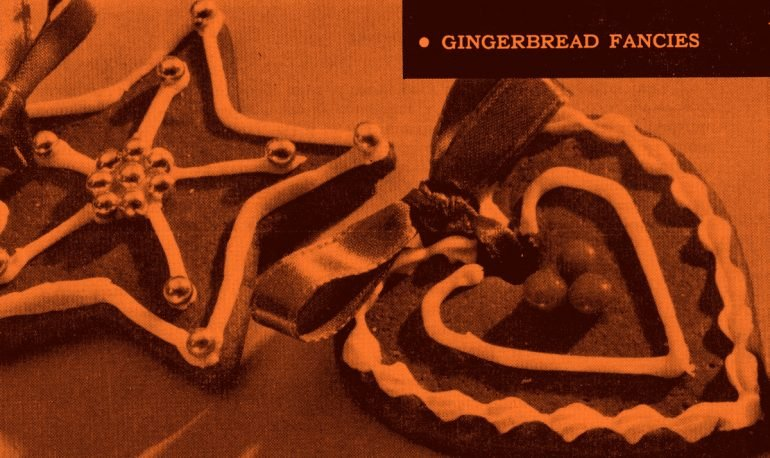 Gingerbread Fancies Christmas cookies (1959)