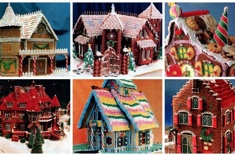 Gingerbread house gallery Christmas cookies & candy (1987)