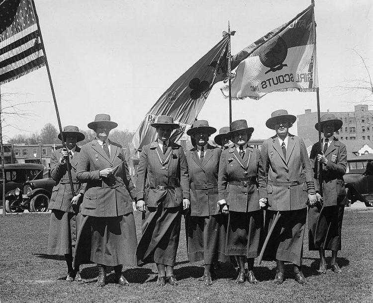 Girl Scout leaders in 1923