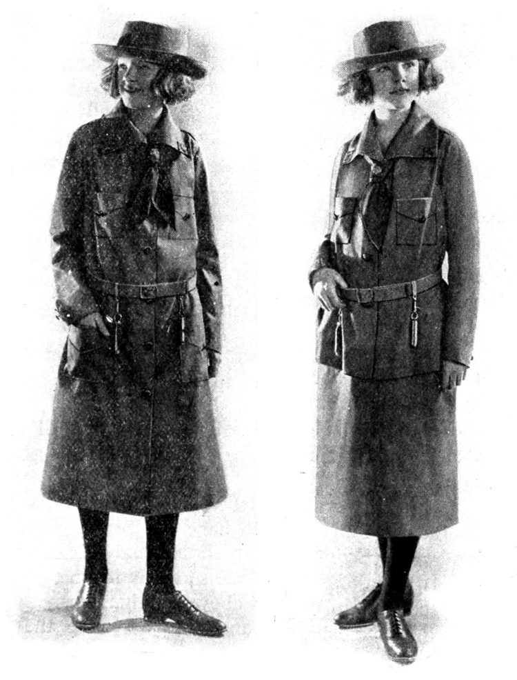 Girl Scout uniforms in the 1920s