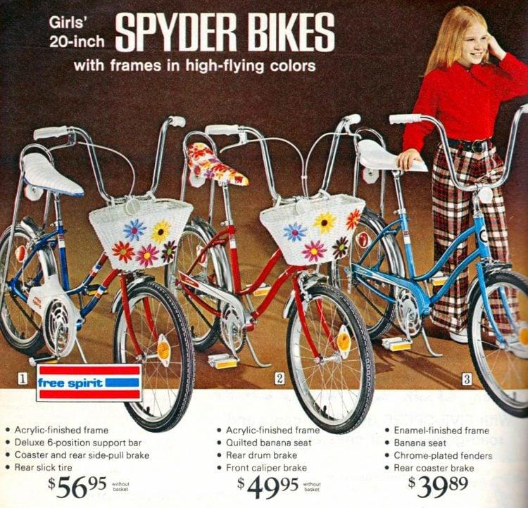 Girls 20-inch Spyder bikes 1972