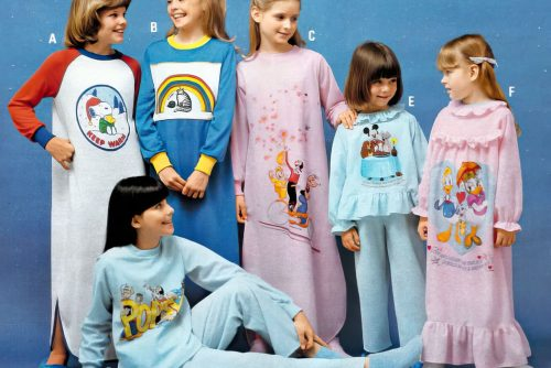 Girls pajamas for a 1980 slumber party