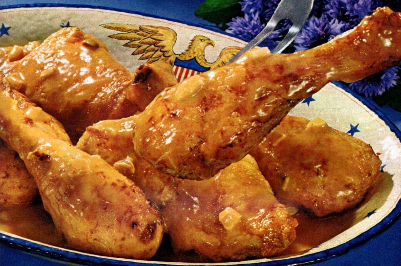 Glori-fried chicken with gravy recipe (1967)