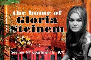 Gloria Steinem's NY apartment in 1970