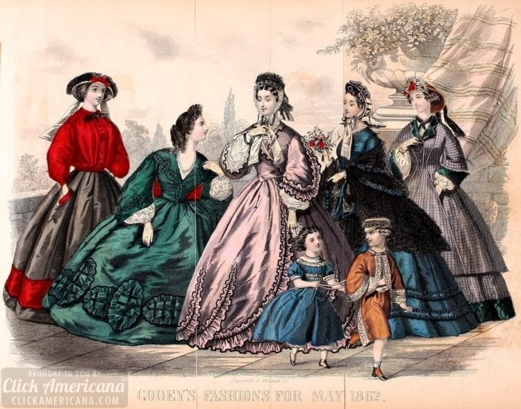 Godey's women's fashion from 1862