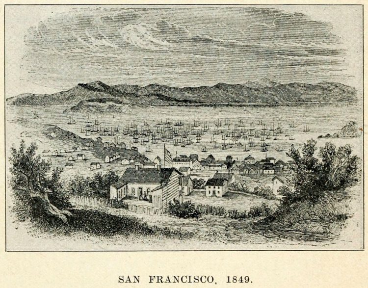 Gold-rush era San Francisco - 1849