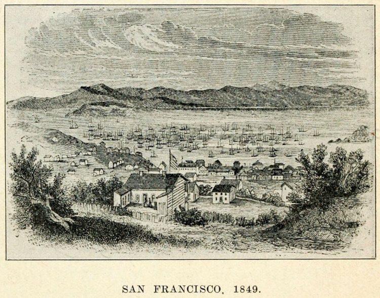 Gold-rush era San Francisco - 1849