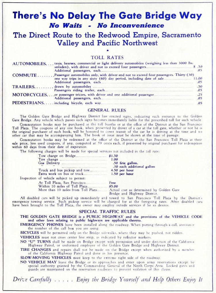 Golden Gate Bridge opening program - 1937 (1)