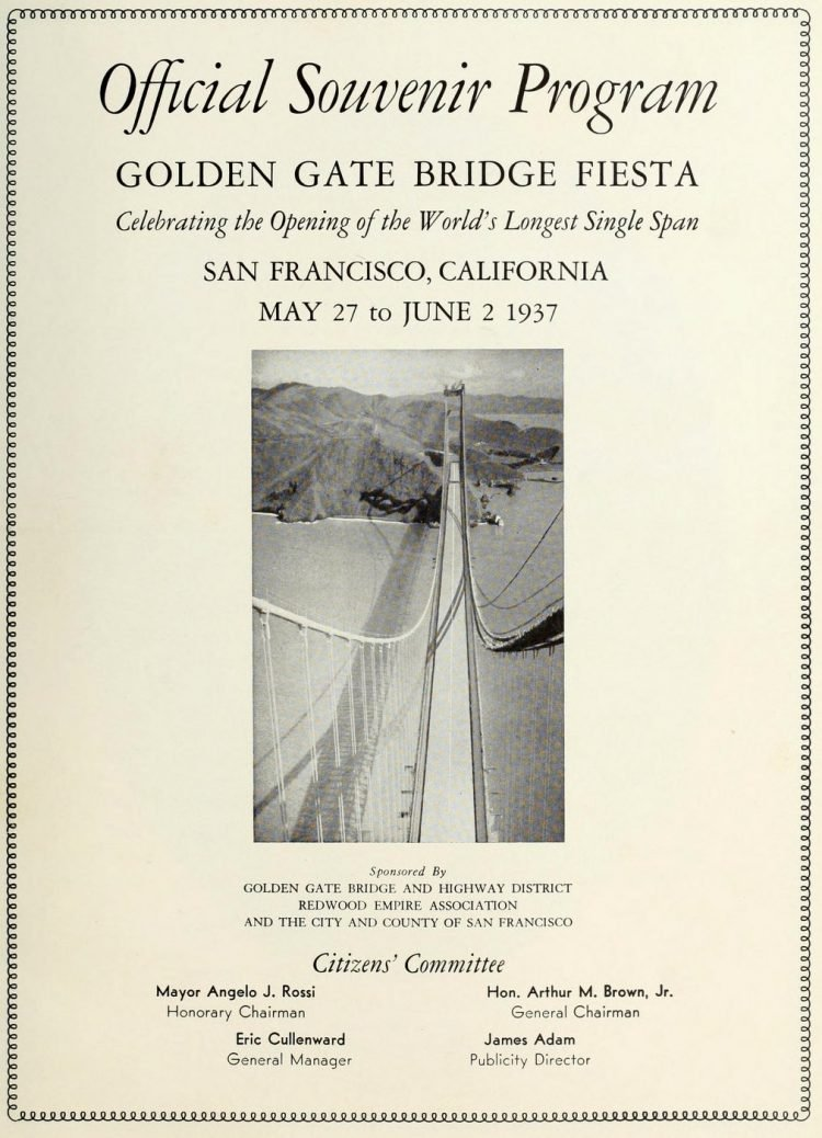 Golden Gate Bridge opening program - 1937 (3)