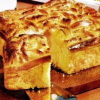 Golden apricot coffee cake vintage recipe