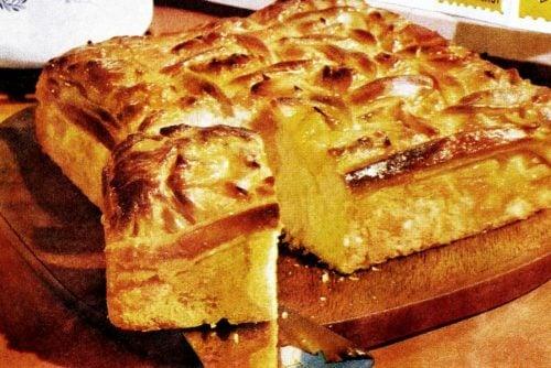 Golden apricot coffee cake vintage recipe