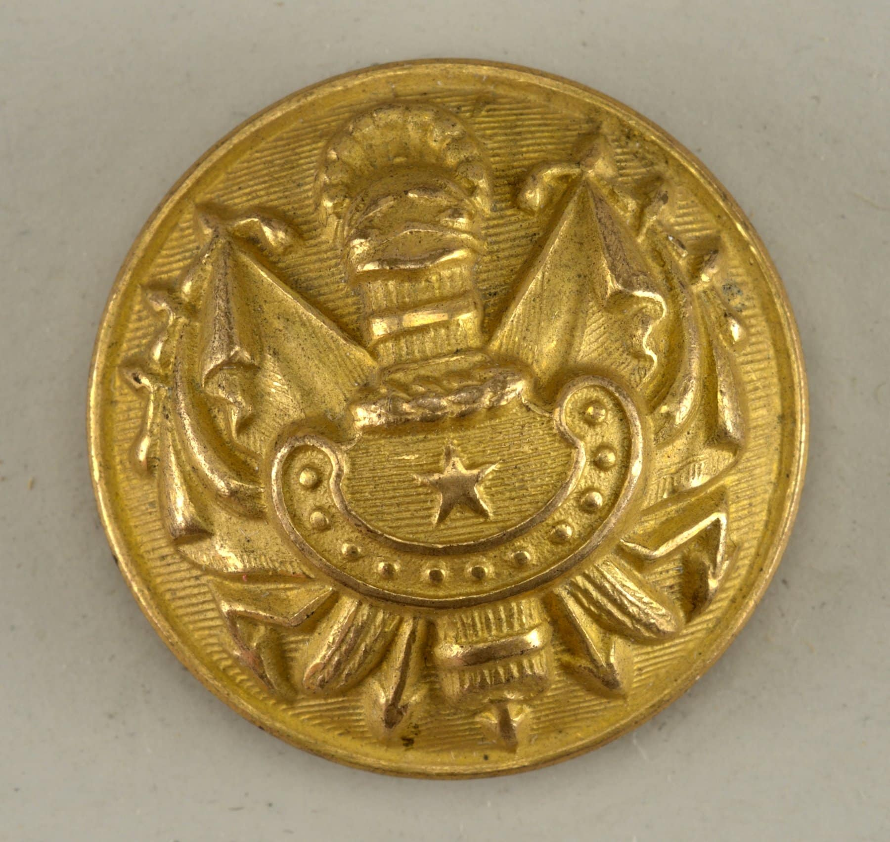 Golden button - officer in the general army 1852-1870