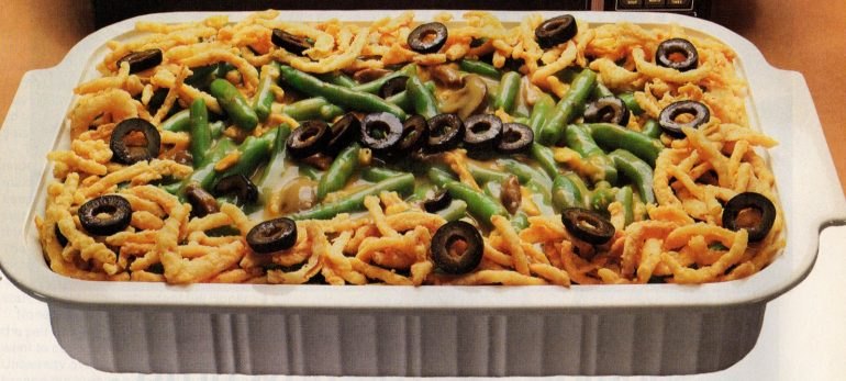 Golden green bean bake recipe - microwave 1987 (2)