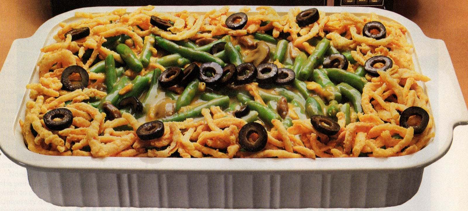 Golden green bean bake recipe - microwave 1987 (2)
