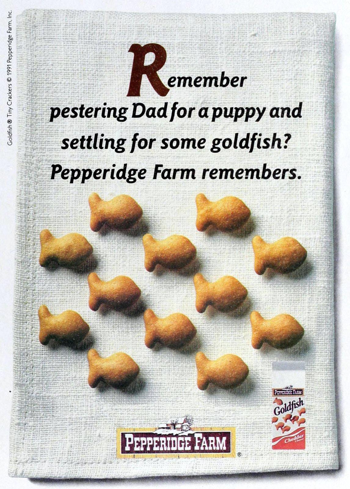 Goldfish crackers (1991)
