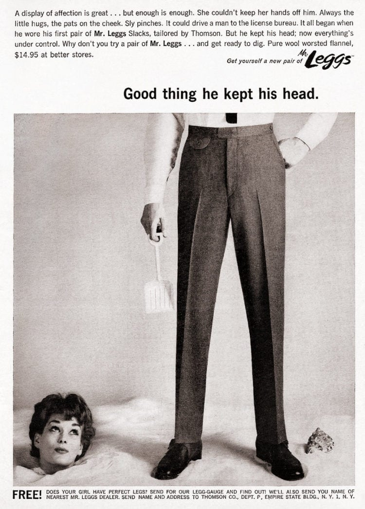 Good thing she kept her ad - Sexist vintage ad from 1960