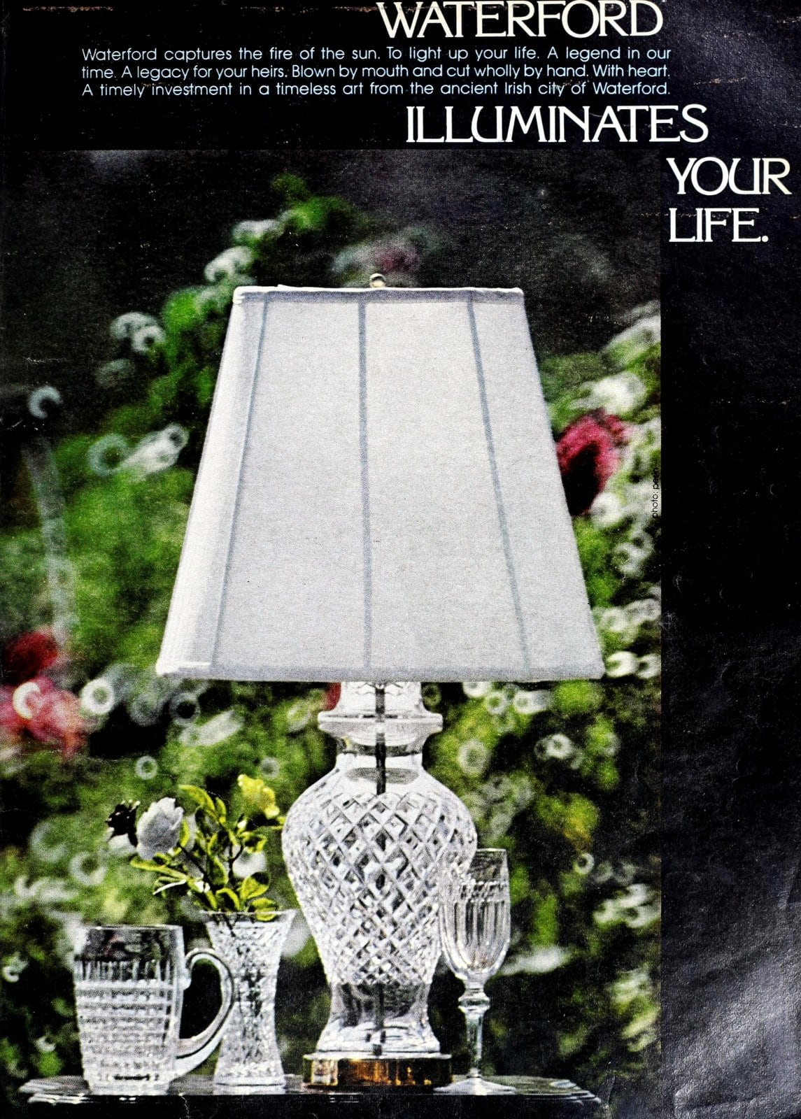 Gorgeous and luxurious vintage crystal Waterford lamp home decor (1978)