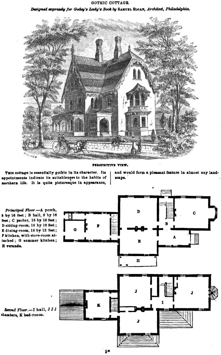 Gothic cottage home plan 1862