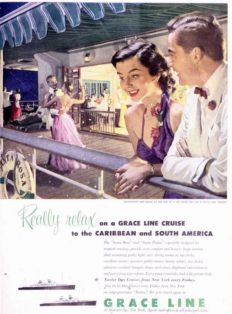 Grace Line New York to Caribbean and South American 1952