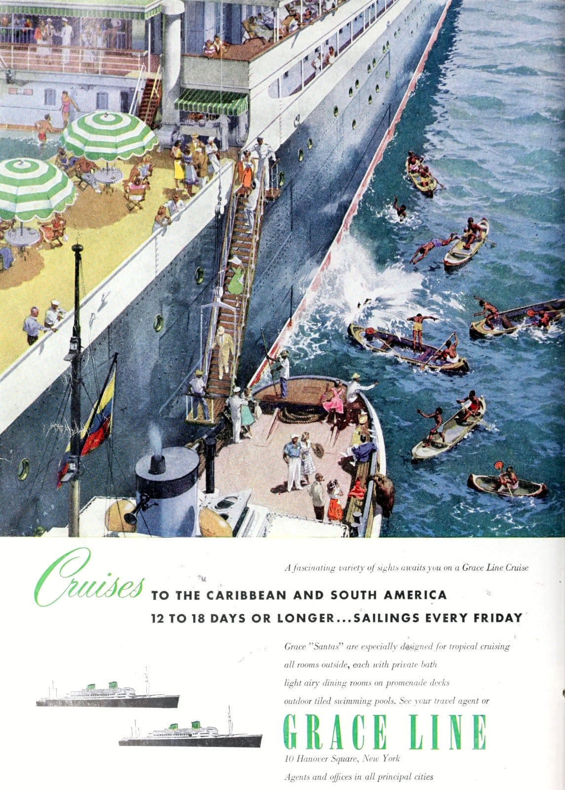 Grace line - Old cruise ships (1952)