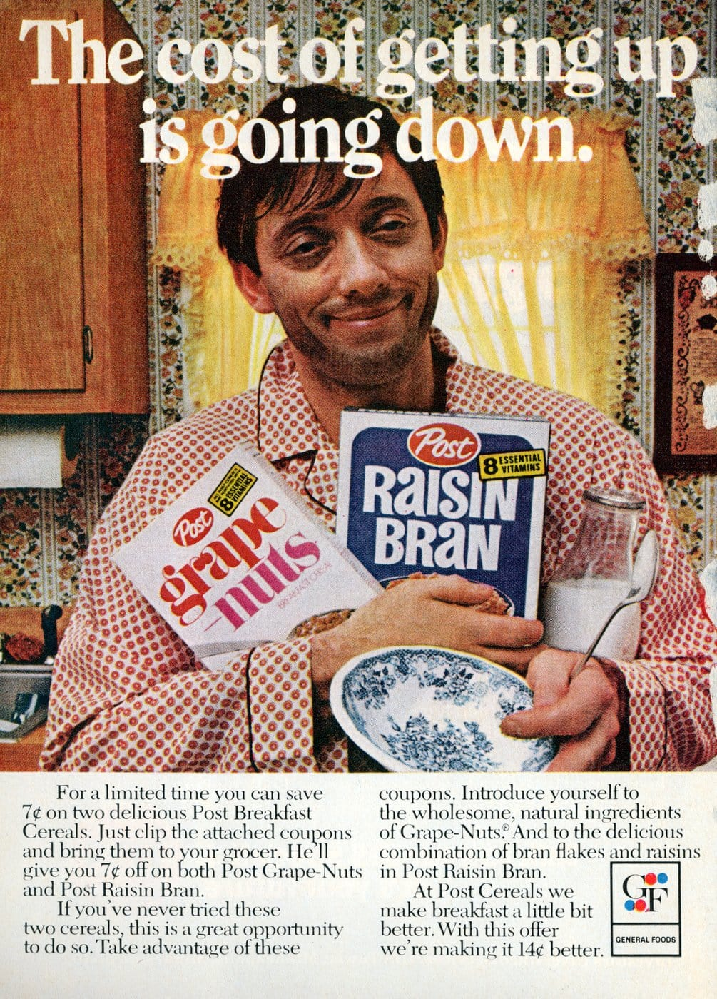 Grape Nuts and Raisin Bran cereals from the seventies (1973)