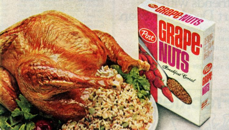 Old-fashioned Grape Nuts stuffing recipes