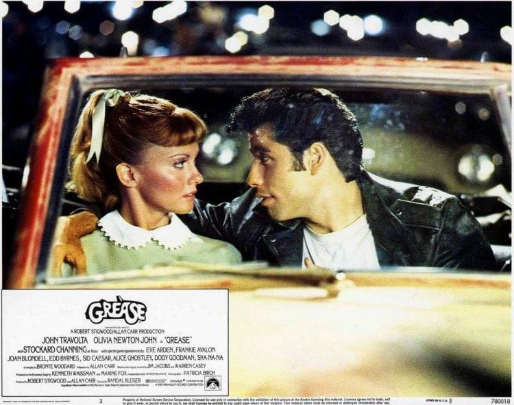 Grease Olivia Newton John and John Travolta lobby still promo
