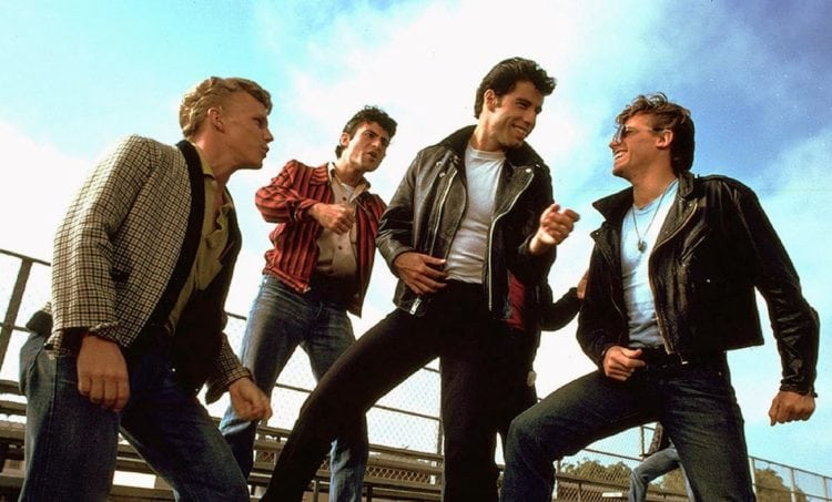 Grease Travolta with greasers