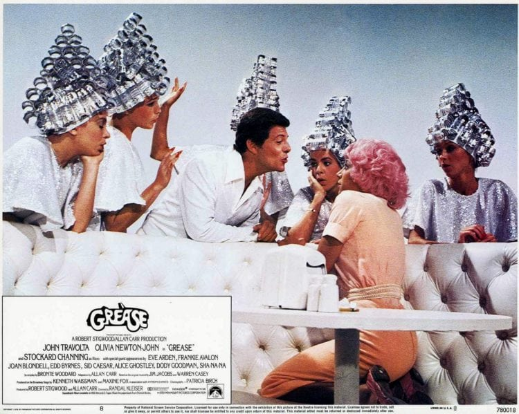 Grease movie Beauty School Dropout promo still