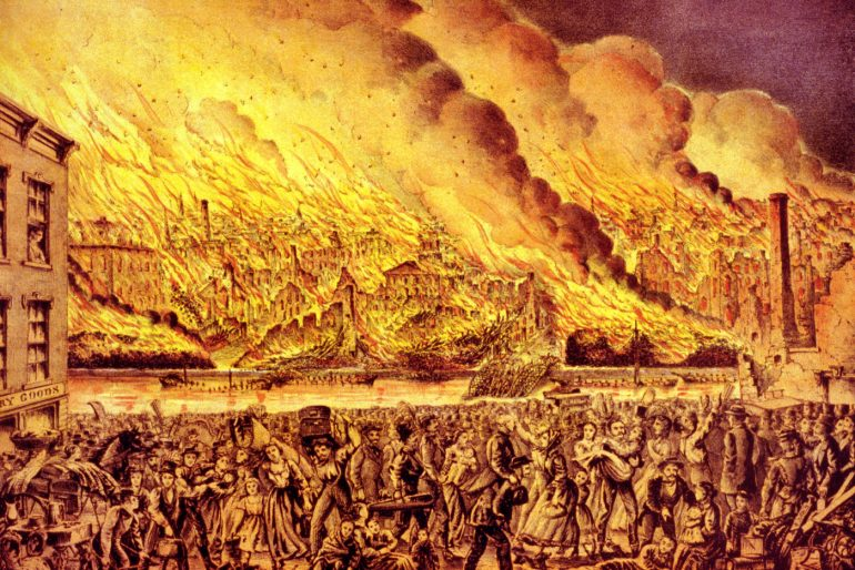Great fire at Chicago 1871