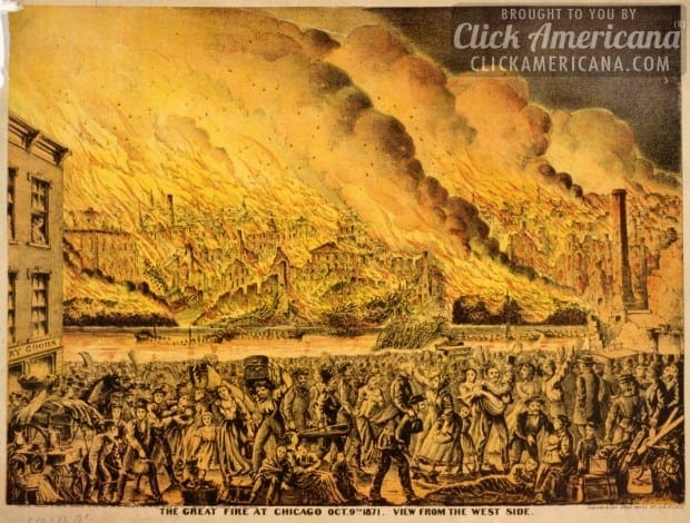 The Great Chicago Fire, as the story unfolded (1871)