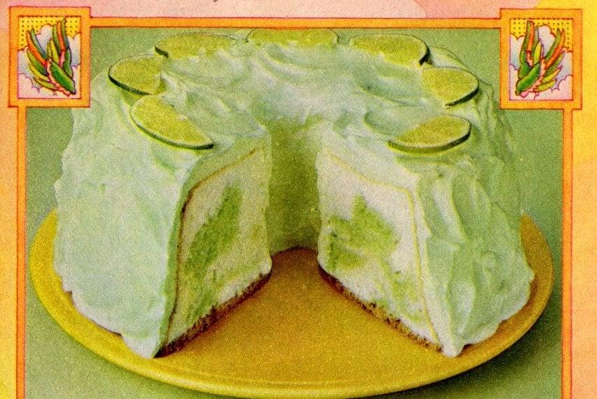 Green Angel Lime Cake recipe (1978)