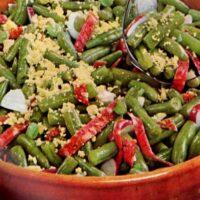 Green Beans Bravo vintage '60s salad recipe