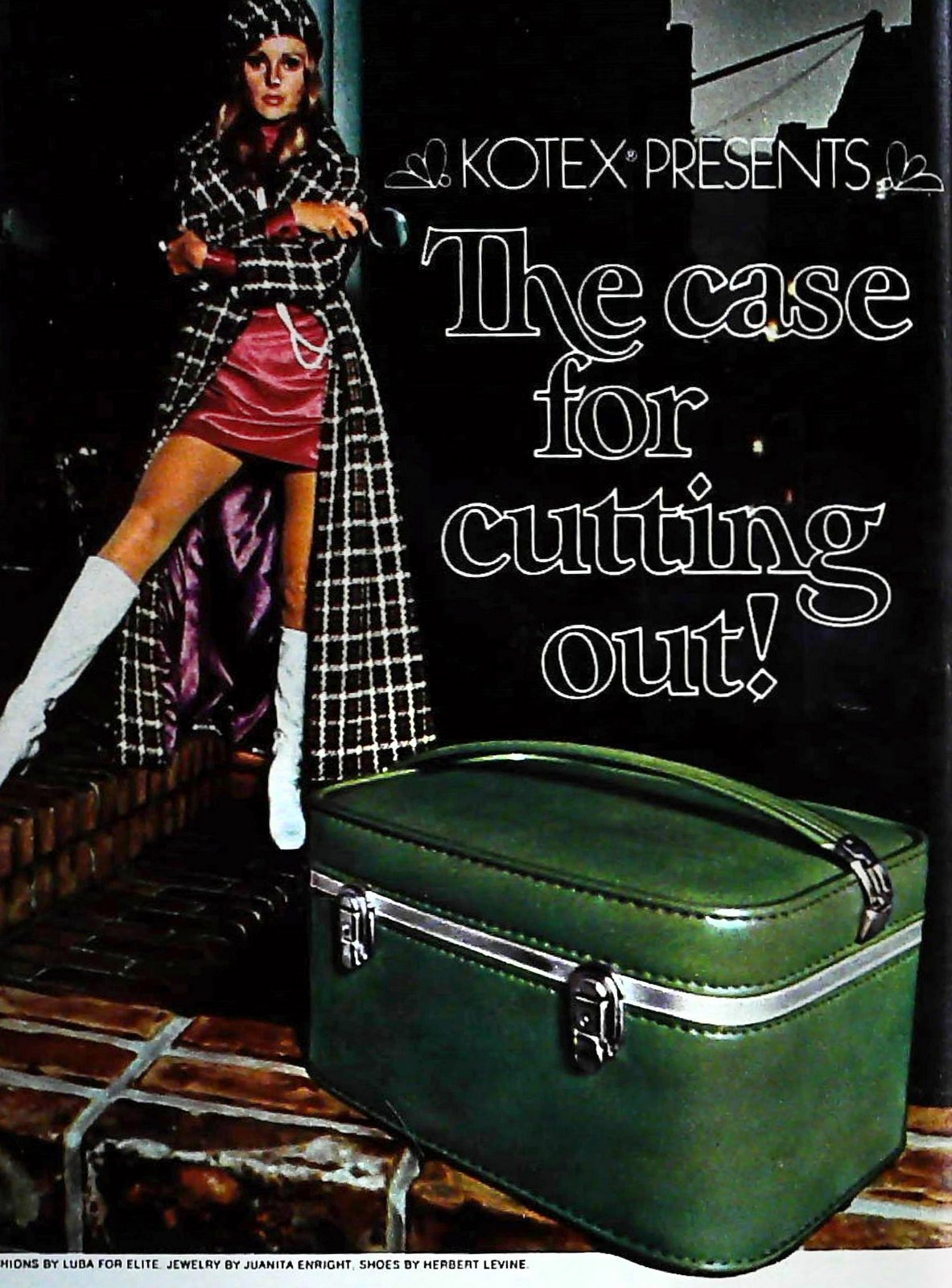 Green beauty case luggage (1970)