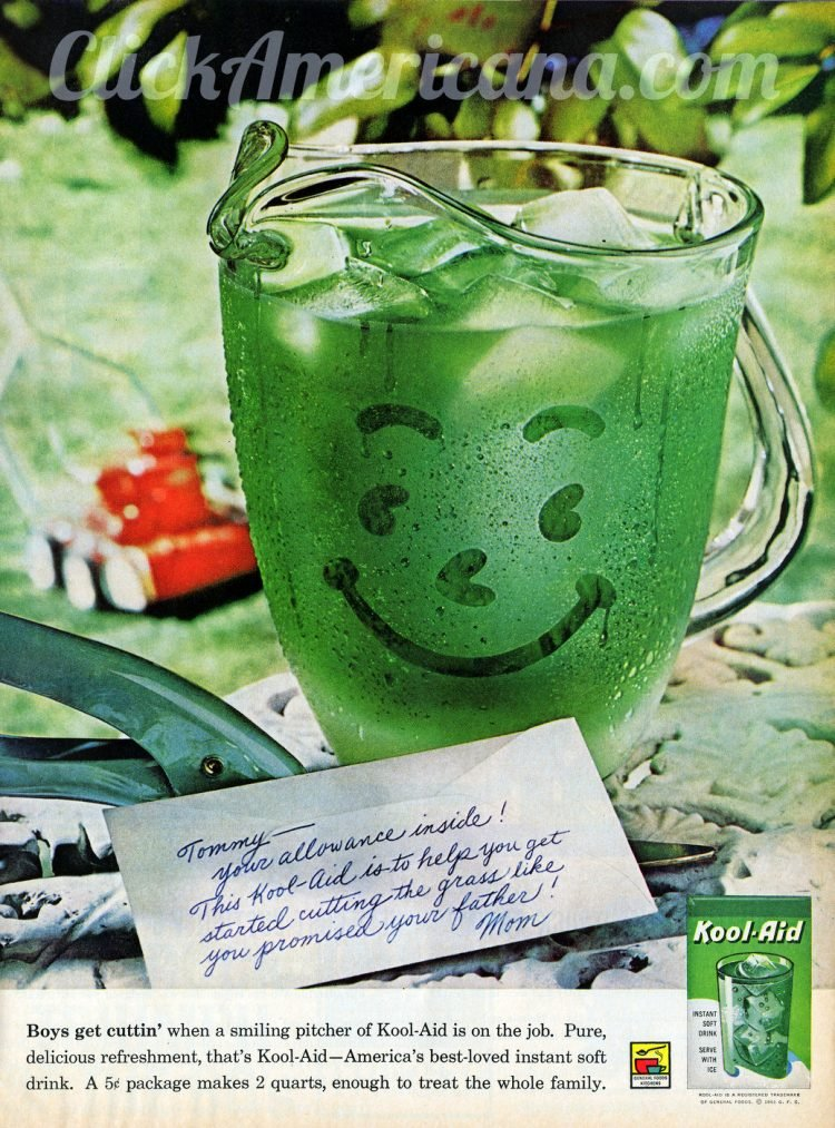 Green lime Kool Aid from 1961