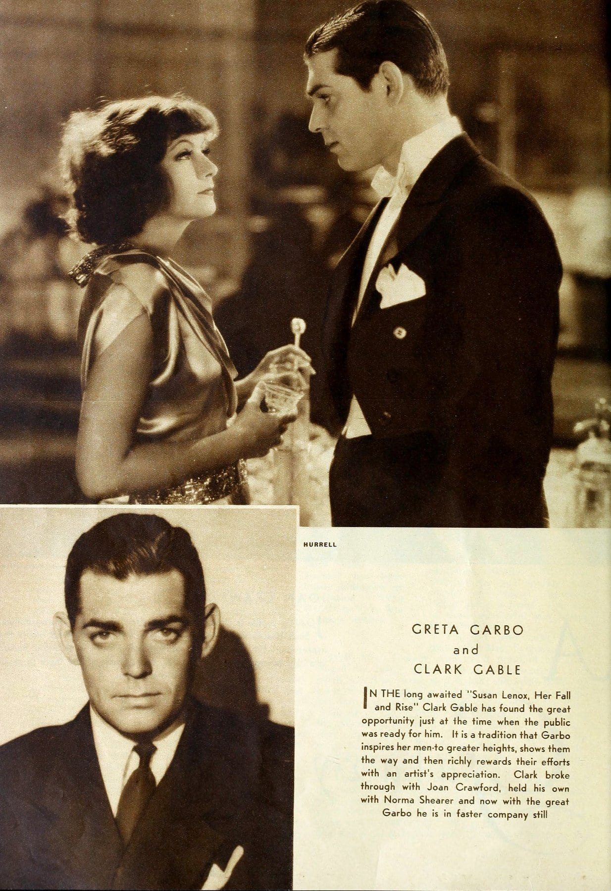 Greta Garbo in 1930-1931 - With Clark Gable