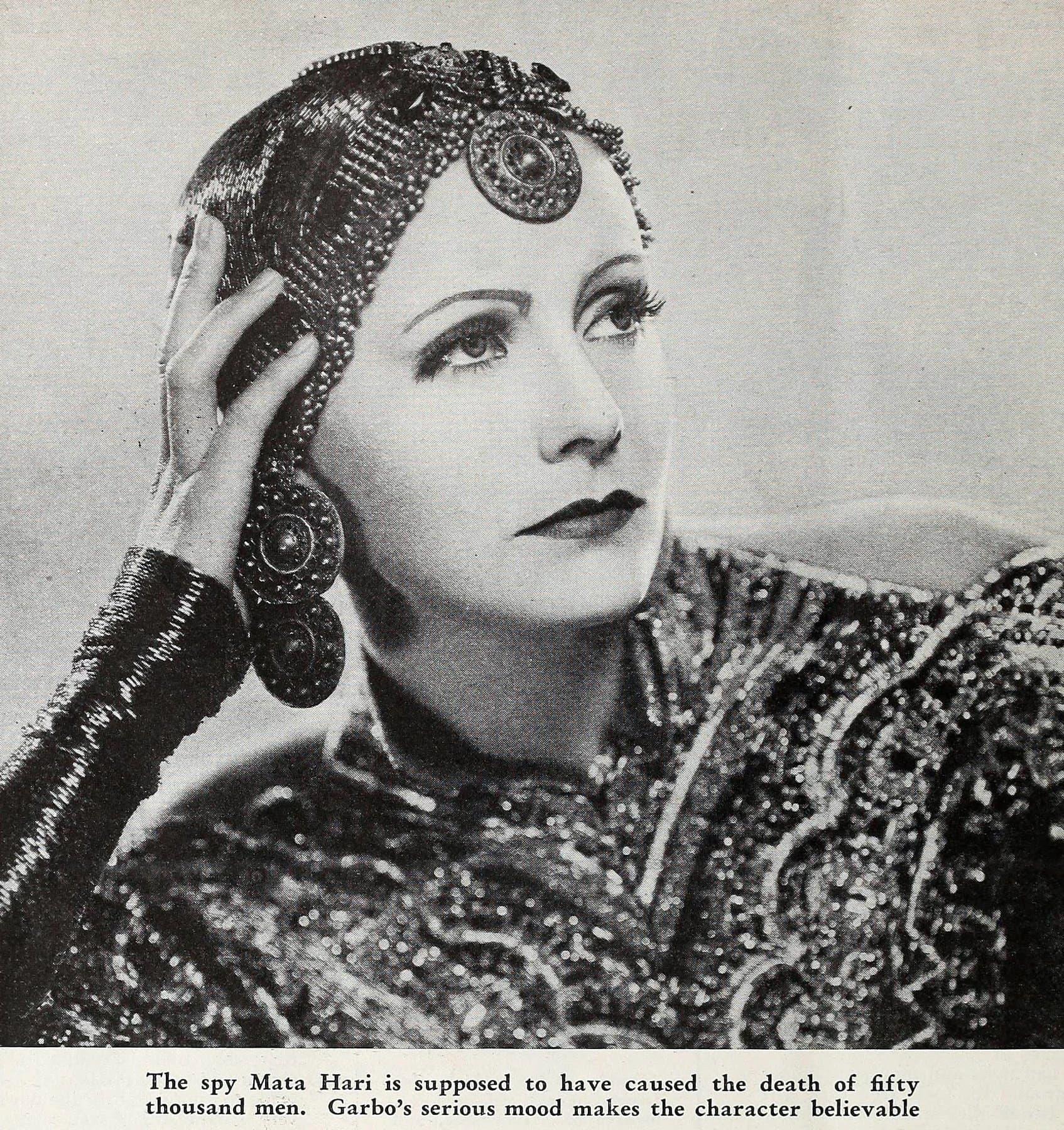 Greta Garbo in Mata Hari costume (1932)