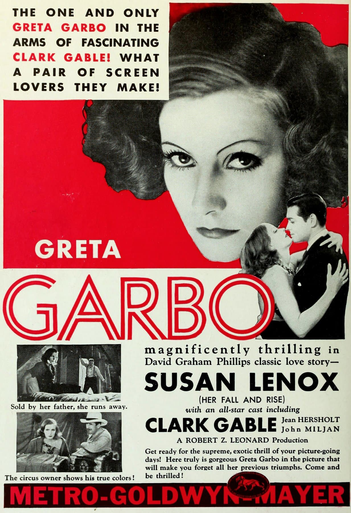 Greta Garbo in Susan Lenox (Her Fall and Rise) in 1931