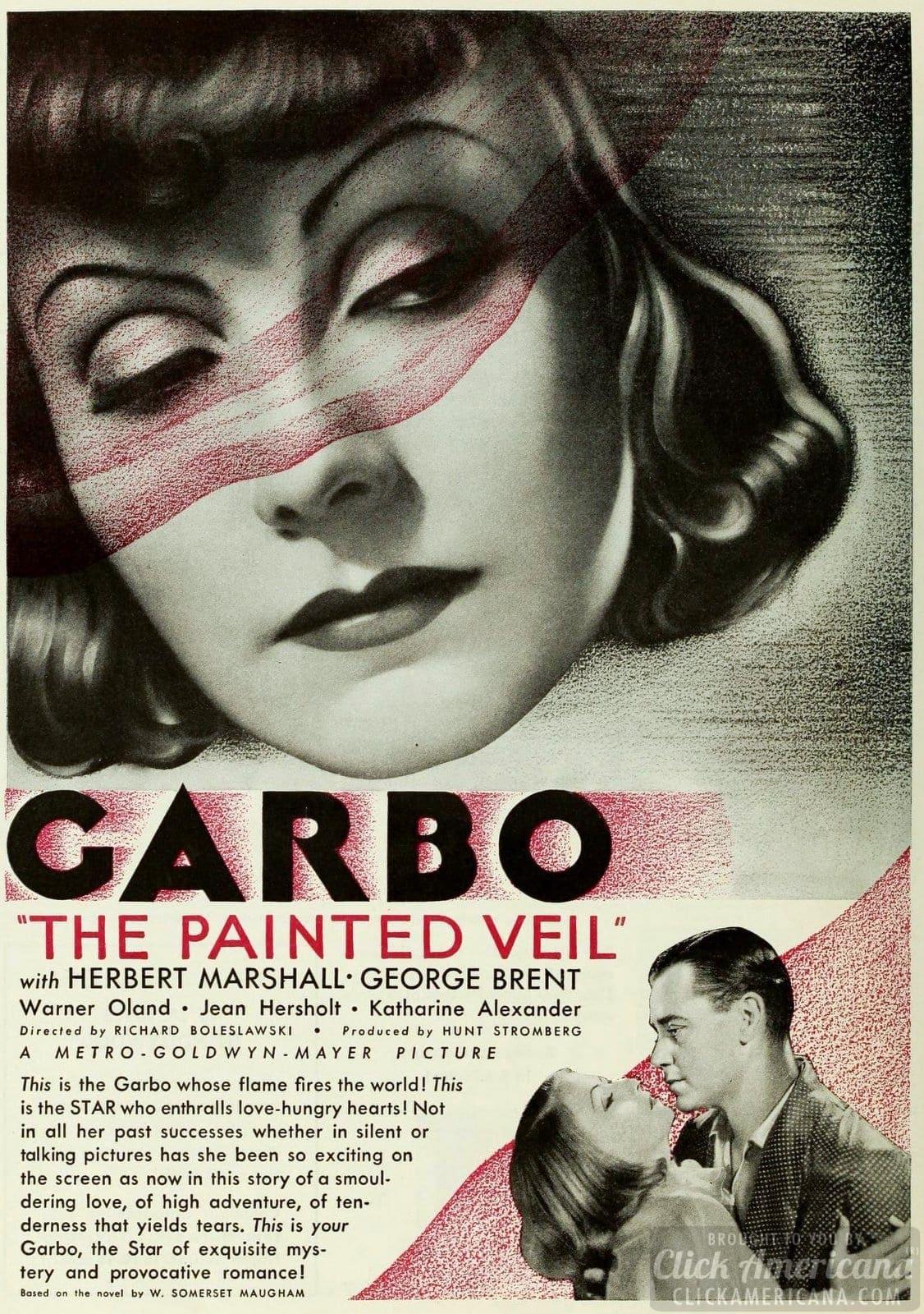 Greta Garbo in The Painted Veil with Herbert Marshall - 1934