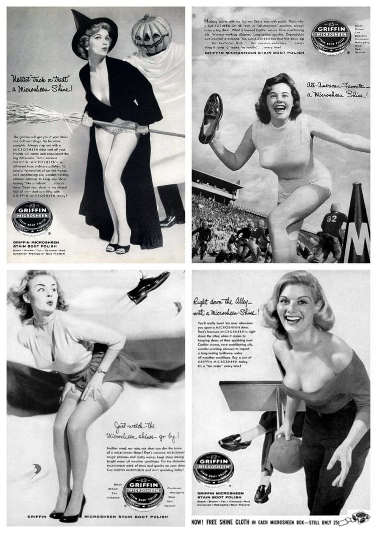 Griffin Microsheen pinup girls of the 1950s