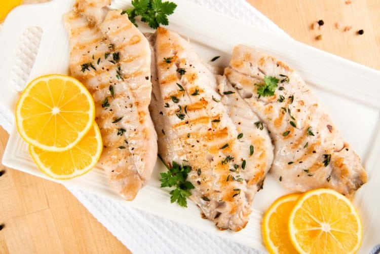 Grilled cod - Vintage recipes for fish